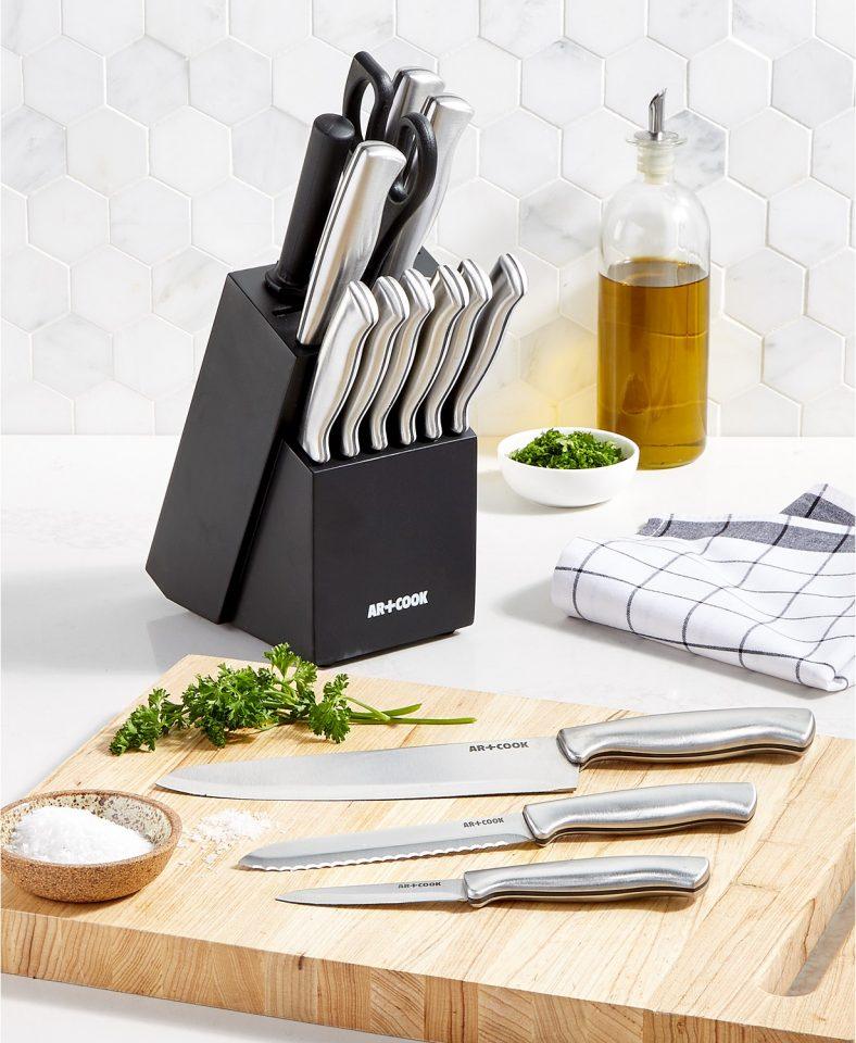 Art & Cook 15-Pc. Knife Block Set Black Friday Special at Macys!
