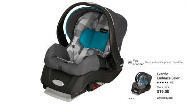 Evenflo Embrace Select Infant Car Seat ONLY $19 (Reg $79)