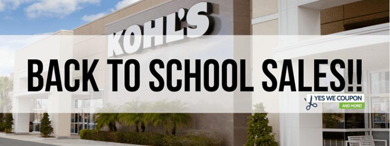 Kohl's Back to School Sales