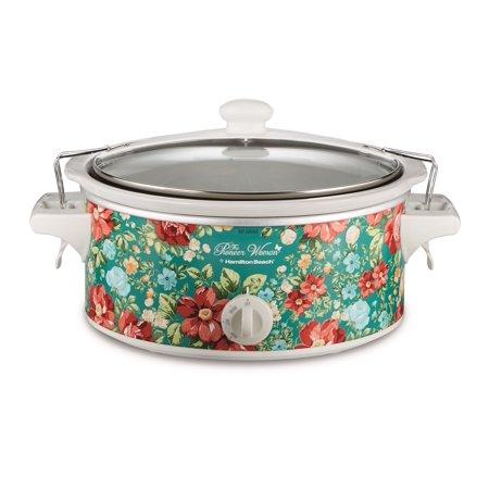 The Pioneer Woman 6-Quart Portable Vintage Floral Slow Cooker Model 33362