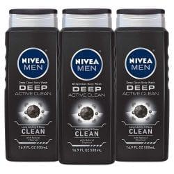 NIVEA Men Active Clean Body Wash, Natural Charcoal Price Drop At Amazon