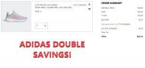 DOUBLE SAVINGS on Adidas plus FREE SHIPPING!!! RUN!