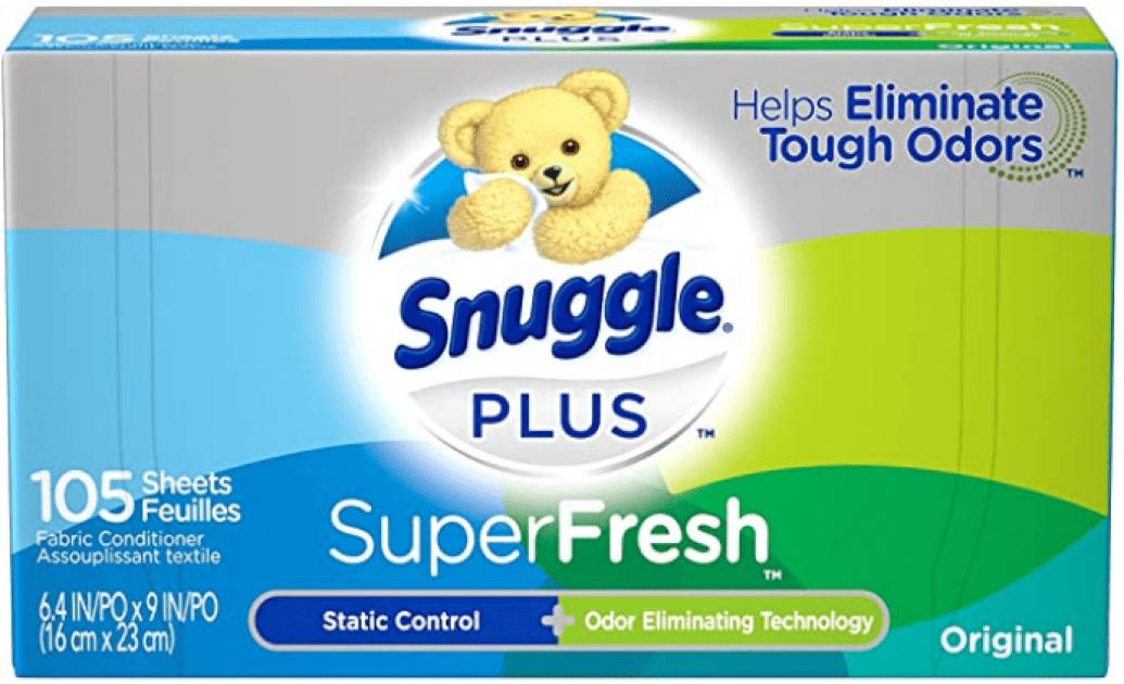 Screenshot 2021 01 02 Amazon com Snuggle Plus Super Fresh Fabric Softener Dryer Sheets with Static Control and Odor Elimina...