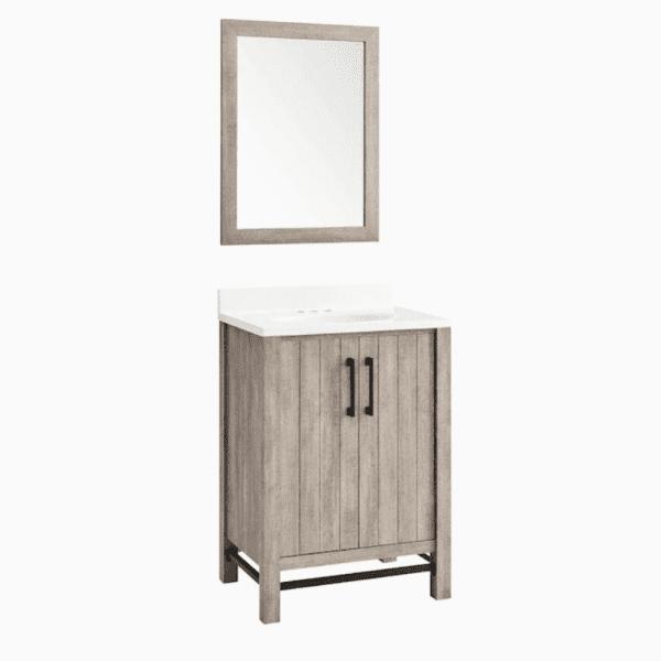 Screenshot 2021 01 27 Style Selections 25 in Barnwood Single Sink Bathroom Vanity with White Acrylic Top Mirror Included ...