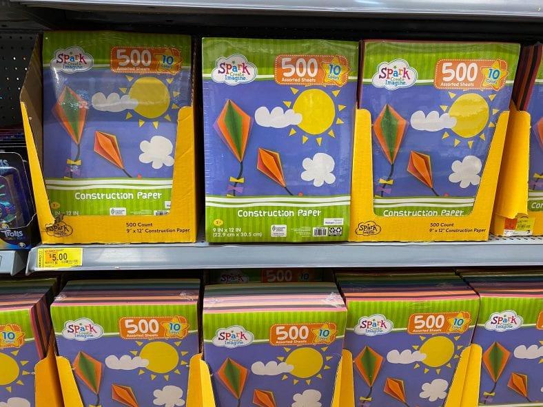 Spark Imagine 500 Pack Construction Paper JUST $5!